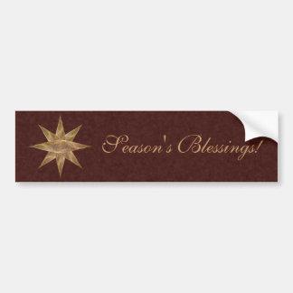 Golden Star Abstract Art Bumper Sticker