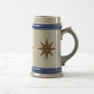 Golden Star Abstract Art Beer Steins