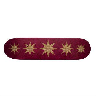 Golden Star Abstract Art Skate Deck