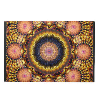 Golden Star Burst Mandala Case For iPad Air