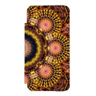 Golden Star Burst Mandala Incipio Watson™ iPhone 5 Wallet Case