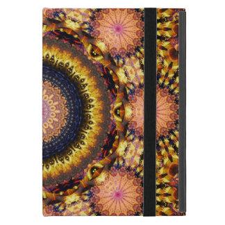 Golden Star Burst Mandala iPad Mini Cover