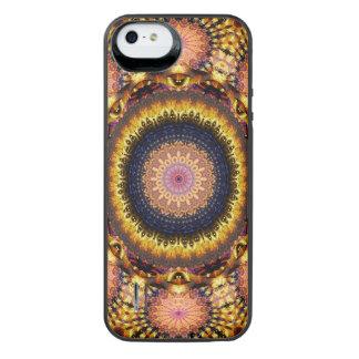 Golden Star Burst Mandala iPhone SE/5/5s Battery Case