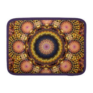 Golden Star Burst Mandala MacBook Sleeve