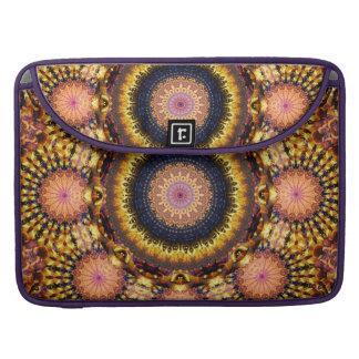 Golden Star Burst Mandala Sleeve For MacBook Pro
