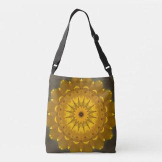 Golden Star Mandala Crossbody Bag