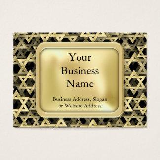 Golden Star Of David Business Card