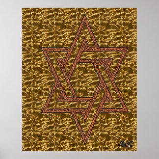 GOLDEN STAR OF DAVID POSTER
