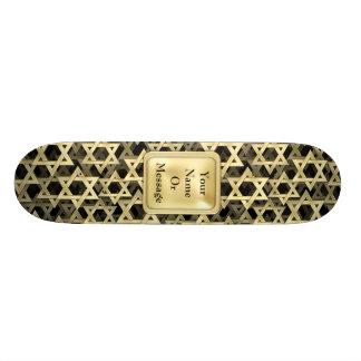 Golden Star Of David Custom Skate Board