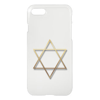 Golden Star of David with shadow Iphone case 1