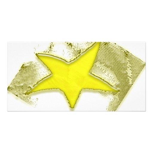 Golden Star Photo Greeting Card