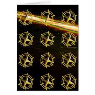 Golden STAR Ship Steering Wheel Greeting Card