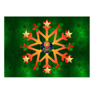Golden Star Snowflake Pack Of Chubby Business Cards