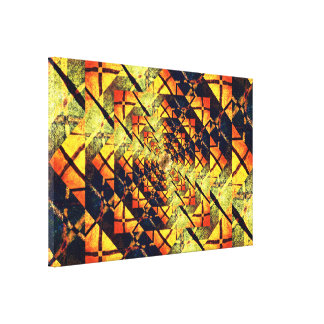 Golden Star Tunnel Mandala Canvas Print