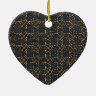 Golden Star Wheels Ceramic Ornament