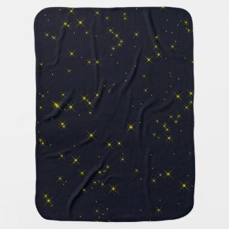 Golden Starry Night Sky Buggy Blankets