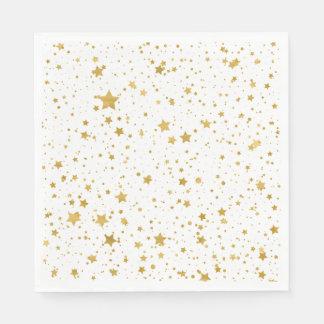 Golden Stars2 -Pure White- Disposable Serviette