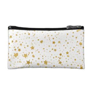 Golden Stars2 -Pure White- Makeup Bag
