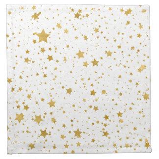 Golden Stars2 -Pure White- Napkin