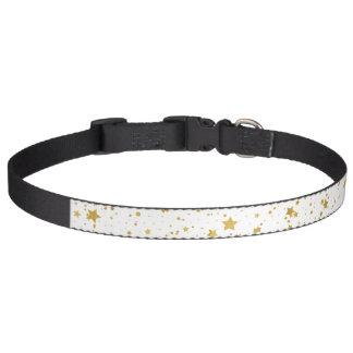 Golden Stars2 -Pure White- Pet Collar