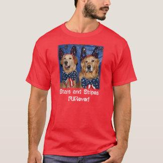 Golden Stars and Stripes FURever T-Shirt