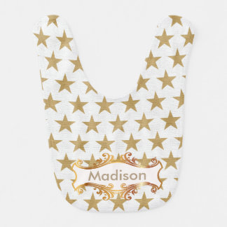 Golden stars bib