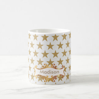 Golden stars coffee mug