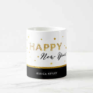 Golden Stars - Happy New Year Mug