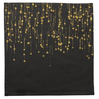 Golden Stars Napkin