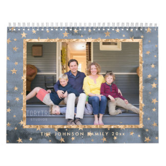 Golden Stars Photo Calendar