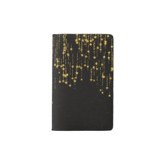 Golden Stars Pocket Moleskine Notebook