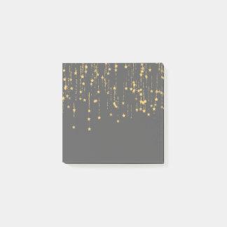 Golden Stars Post-it Notes