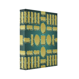 Golden Stepping Stones - Vintage Cave Art Gallery Wrap Canvas
