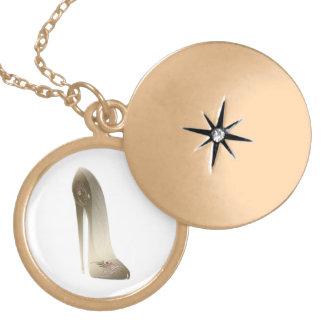 Golden Stiletto High Heel Shoe Art Jewelry