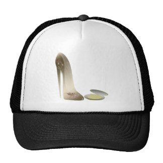 Golden Stiletto Shoe and Make-up Compact Art Hats