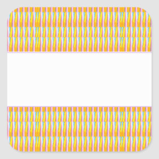 Golden Stripe Pattern blank white strip Stickers