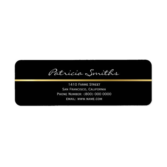 golden stripe, signature & return address label