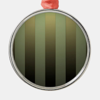 GOLDEN STRIPES ON GREEN SHADE Silver-Colored ROUND DECORATION