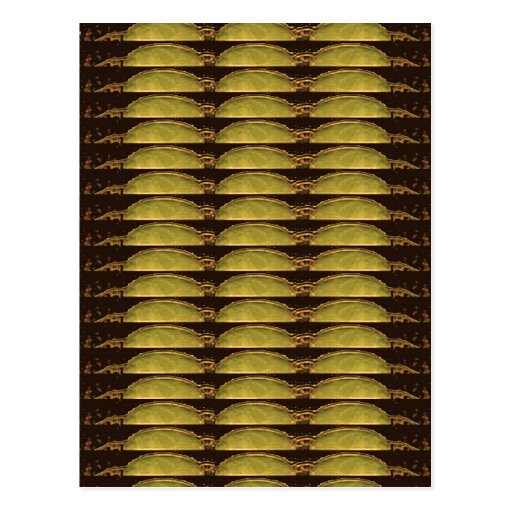 GOLDEN Strips Pattern : From VINTAGE Idol Image Post Card