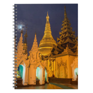 Golden Stupa And Temples Notebook