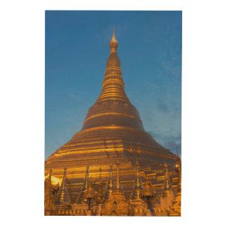 Golden Stupa Pagoga Wood Print