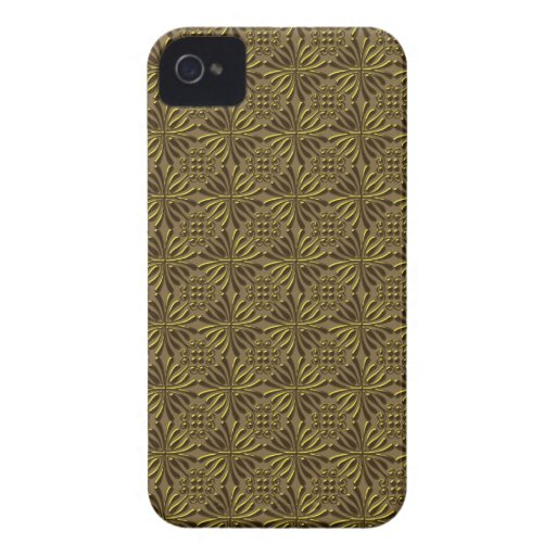 Golden Style Pattern Elegant Blackberry Bold Case