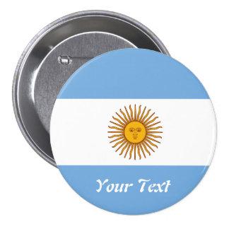 Golden Sun Argentina Flag Badge Name Tag