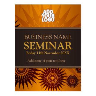 Golden Sun Business Seminar Workshop Postcards