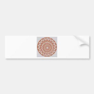 GOLDEN Sun Flower CHAKRA LEAF GRAPHIC ART GIFTS Bumper Sticker