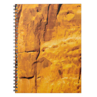 golden sun kissed stone notebook