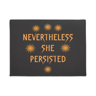 Golden Sun Nevertheless She Persisted Door Mat