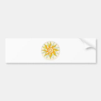Golden Sun Shine Flower Bumper Sticker
