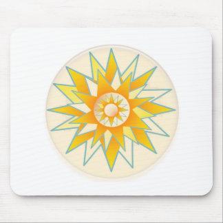 Golden Sun Shine Flower Mouse Pad