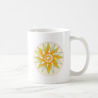 Golden Sun Shine Flower Mug
